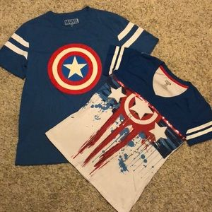 His and Hers Captain America MARVEL T's